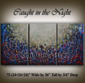 Abstract Art Canvas-Caught-in-the-Night