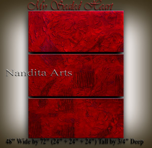 Textured Art, Modern Contemporary Paintings, Abstract Art, Red