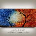 Landscape Painting, Landscape Art, Red and Blue Artwork by Nandita Albright