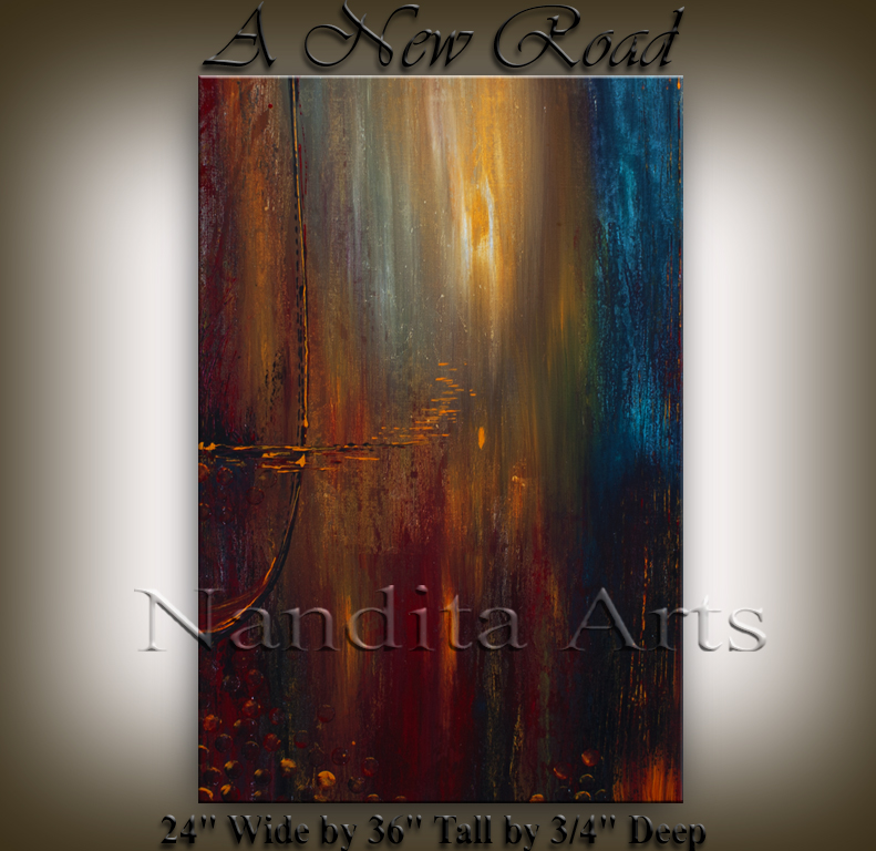 """A New Road"" Abstract Modern Gallery By Nandita Albright"