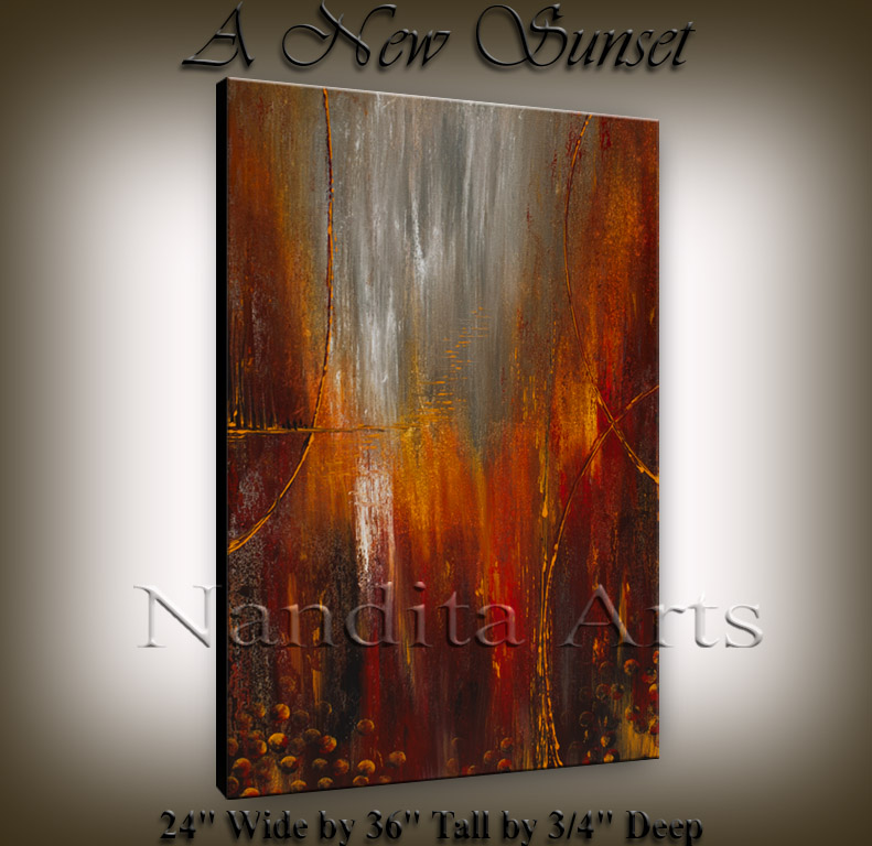 """A New Sunset"" Abstract Art By Nandita Albright"