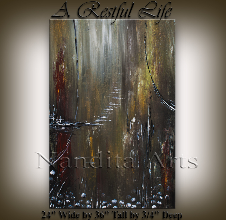 """A Restful Life"" Abstract Painting by Nandita Albright"