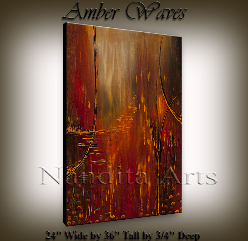 """Amber Waves"" Abstract Art by Nandita Albright"