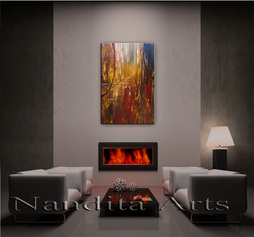 Is This Real, Painting, Art, Modern, Landscape by Nandita Albright