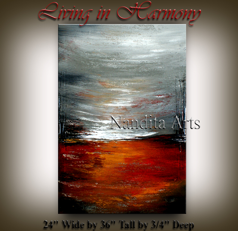 Living in Harmony Abstract Painting, Artwork by Nandita Albright