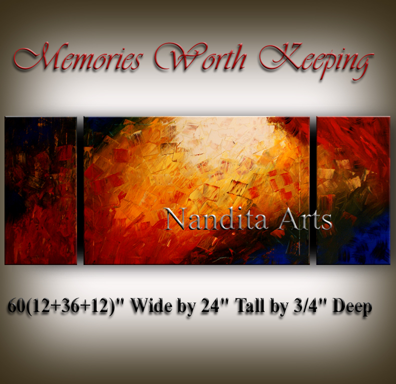 Memories Worth Keeping | Abstract painting | Painting | Art by Nandita Albright