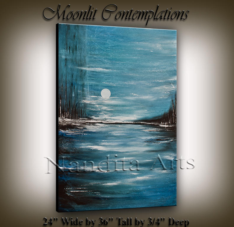 Moonlit Contemplations | Beautiful painting created by Dallas Artist Nandita Albright