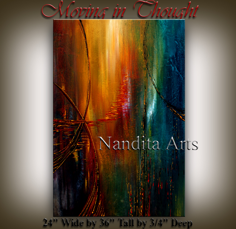 Moving in Thought Abstract modern art by Nandita Albright