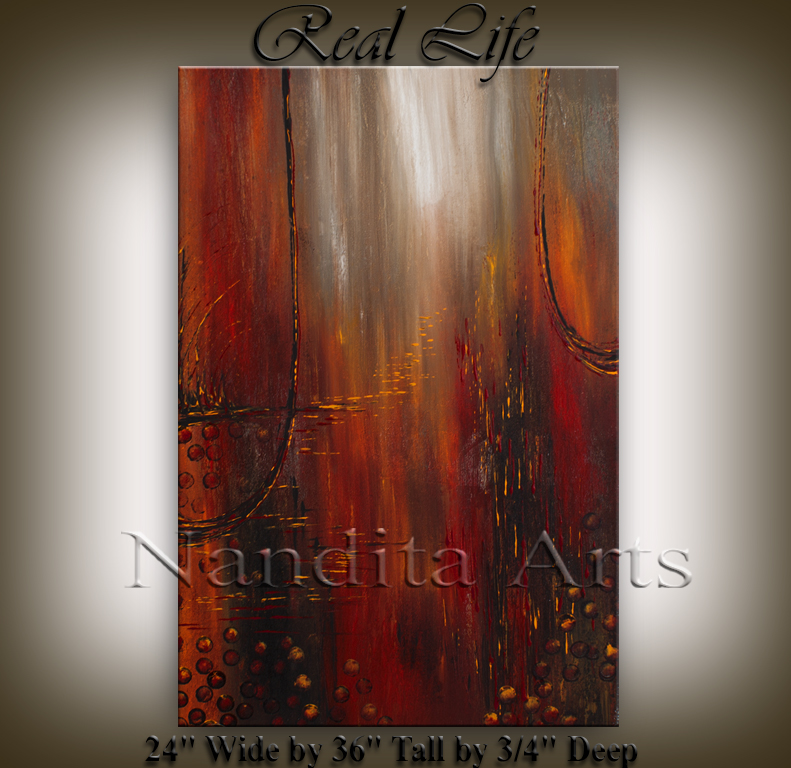 """Real Life"" Abstract Art Painting by Nandita Albright"