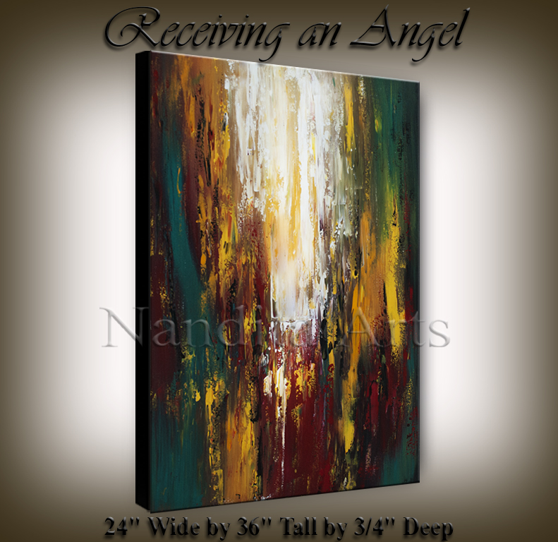 Receiving an Angel | paintings | Cityscape Art | online gallery by Nandita Artist