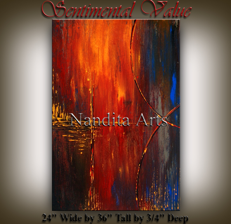 Sentimental Value modern art by Nandita Albright