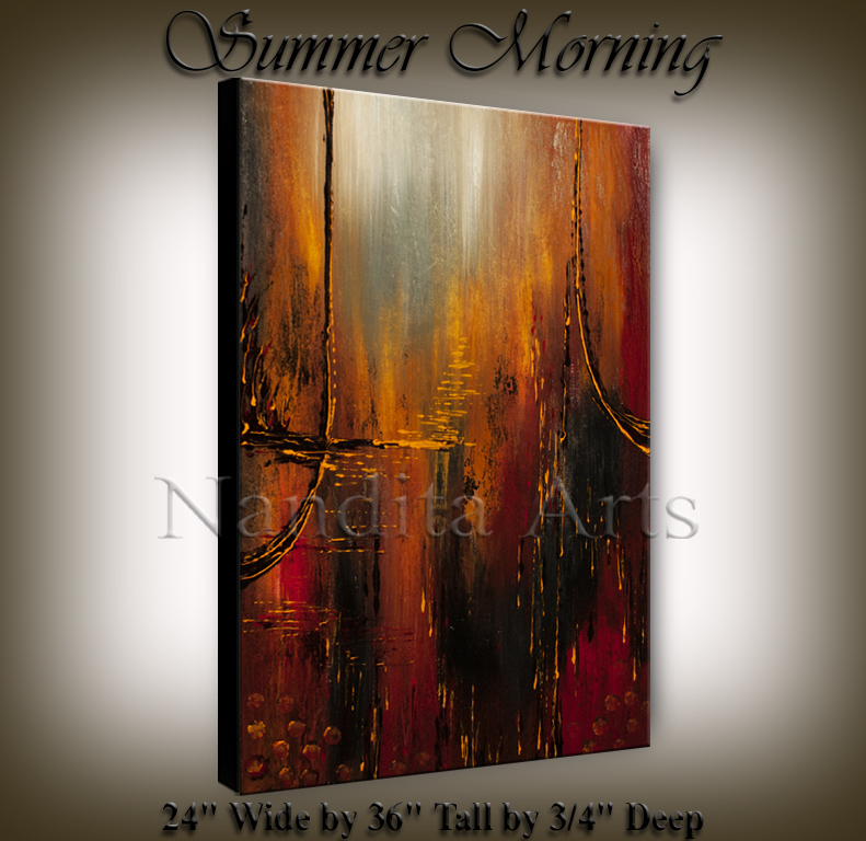 Summer Morning, abstract art by Nandita albright