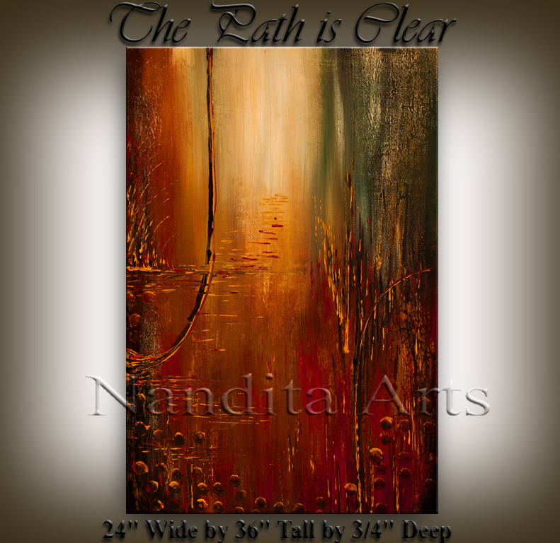 The path is clear Abstract Art by nandita