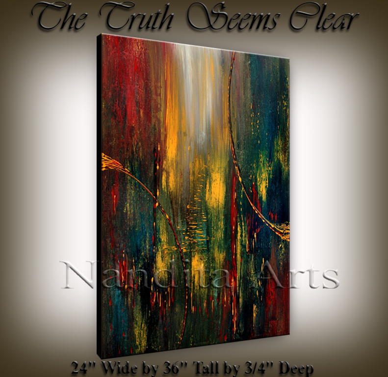The Truth Seems Clear | Sunset | modern art by Nandita Arts