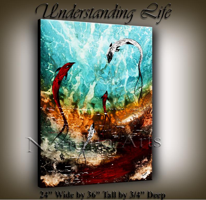 Understanding Life SEASCAPE MODERN ART COI FISH BY NANDITA ALBRIGHT