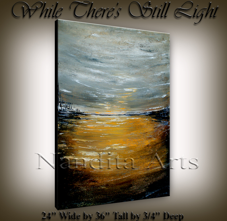 While There's Still Light Abstract Art By Nandita Albright