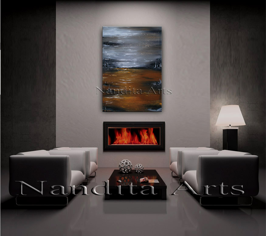 Awestruck Absence |abstract art| modern art by Nandita Albright
