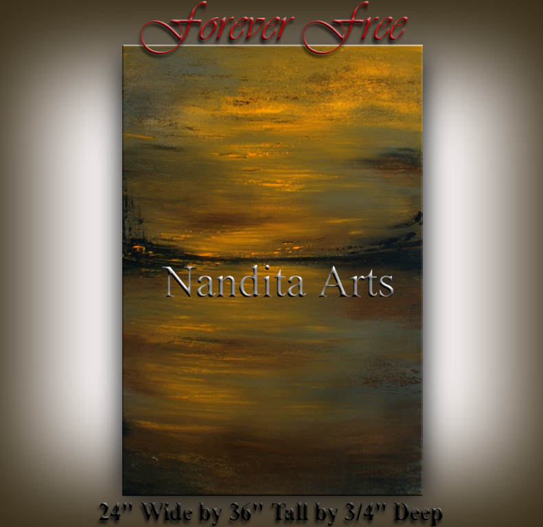 Forever Free Original abstract painting wall art by nandita albright