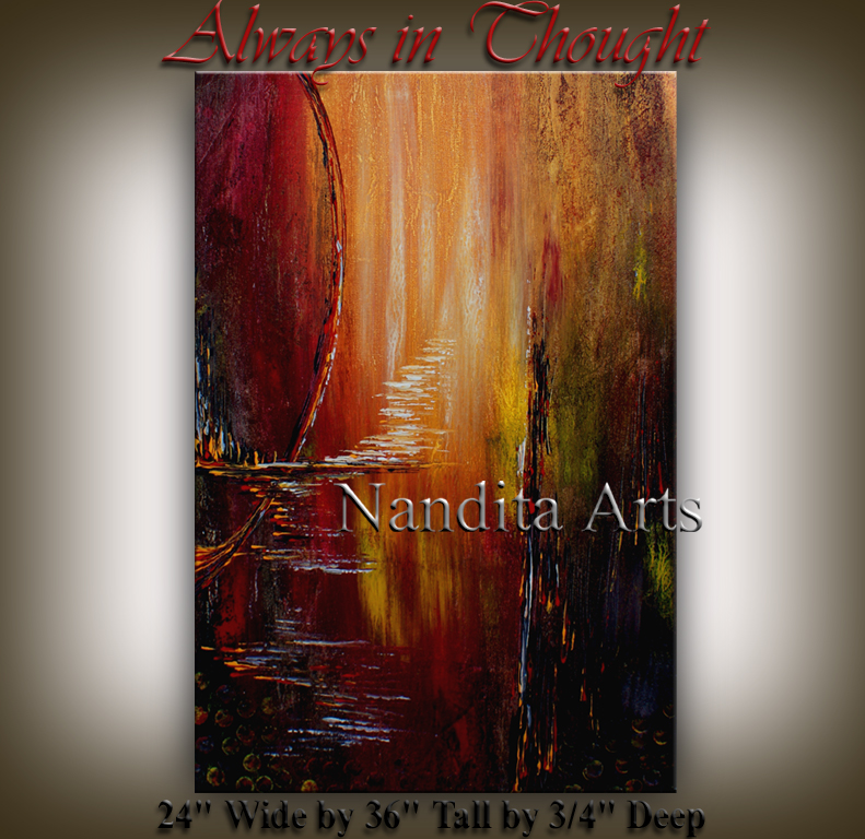 Always in Thought Abstract modern art artwork by Nandita Albright