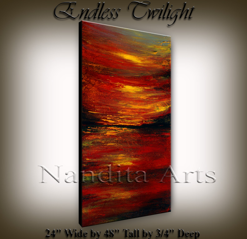 """Endless Twilight"" Abstract Painting By Nandita Albright"