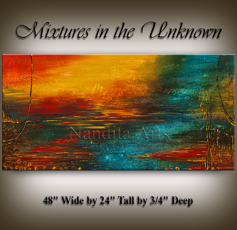 """Mixtures in the Unknown"" Abstract Art by Nandita Albright"