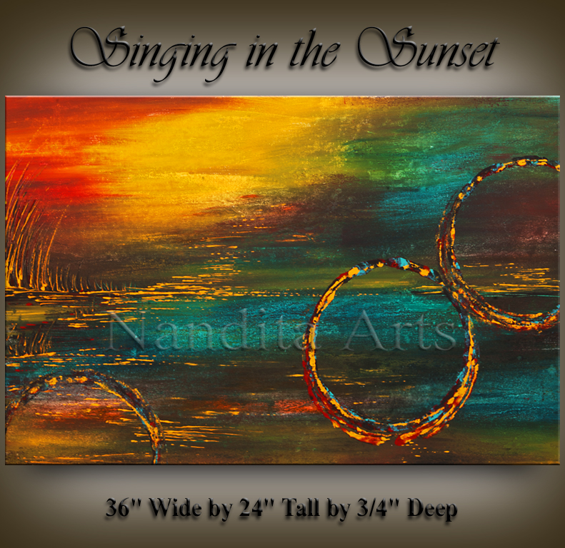 Singing in the Sunset, Abstract art by Nandita Albright