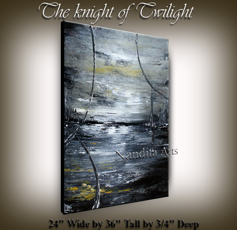 The Knight of Twilight | Original done by Artist Nandita Albrigt from Dallas TX