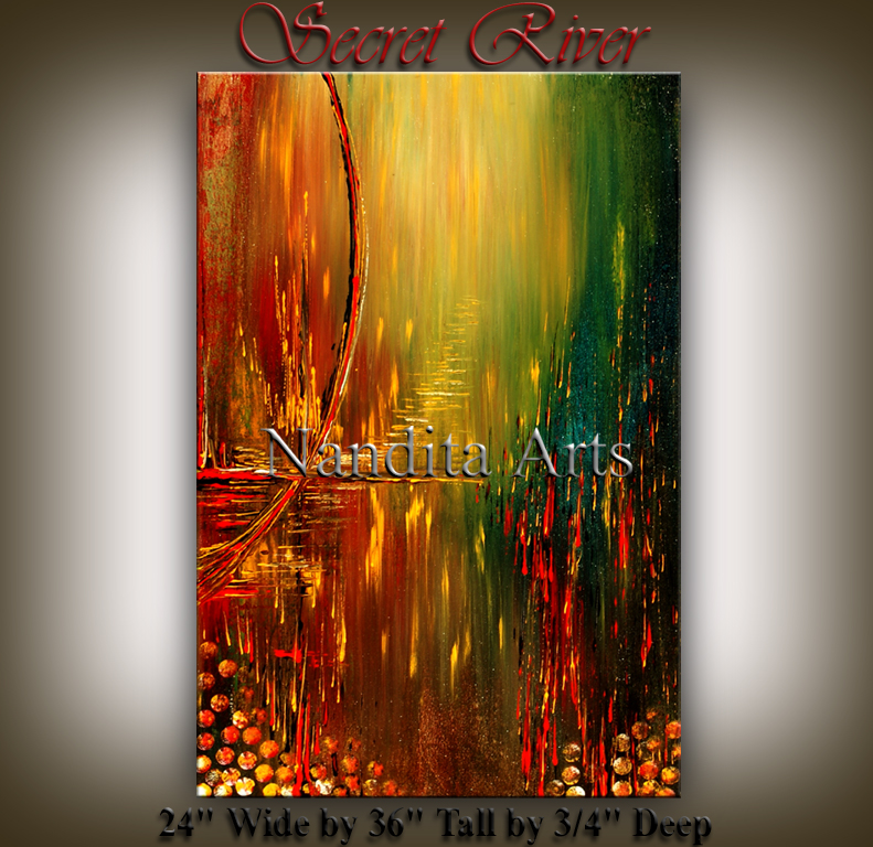 Secret River artwork modern paintings by Nandita Albright
