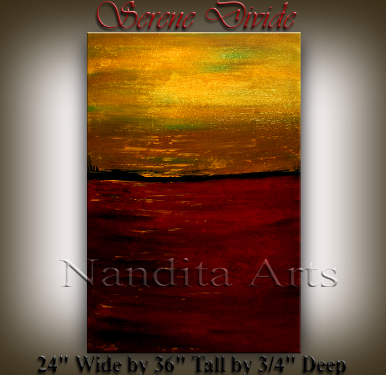 Serene Divide landscape abstract art by Nandita Albright