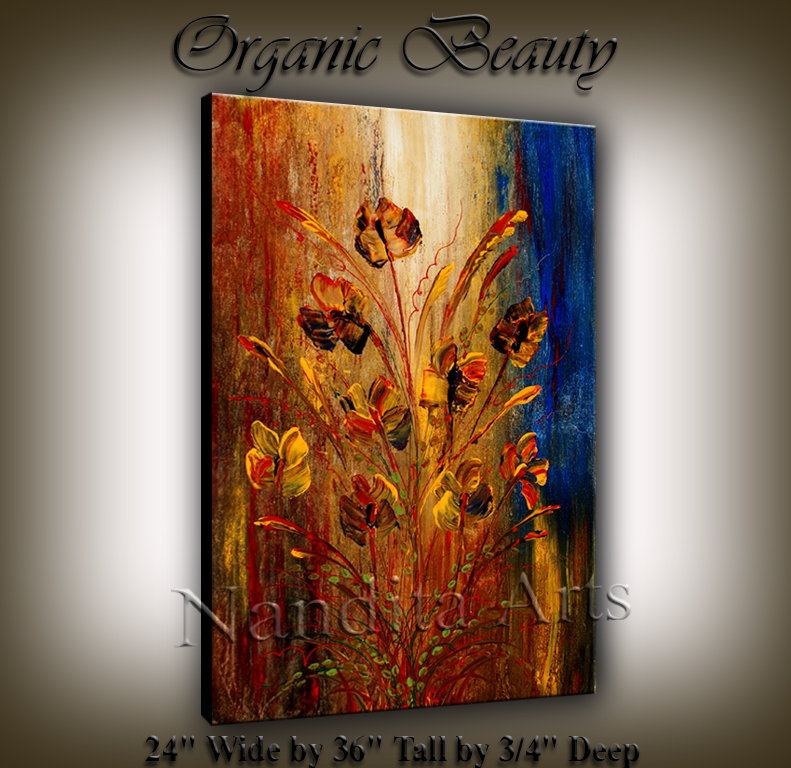 Organic Beauty modern art by Nandita Albright