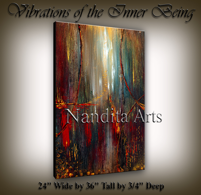 Vibrations of the Inner Being | Abstract | Modern | Landscape | Painting by Nandita Albright