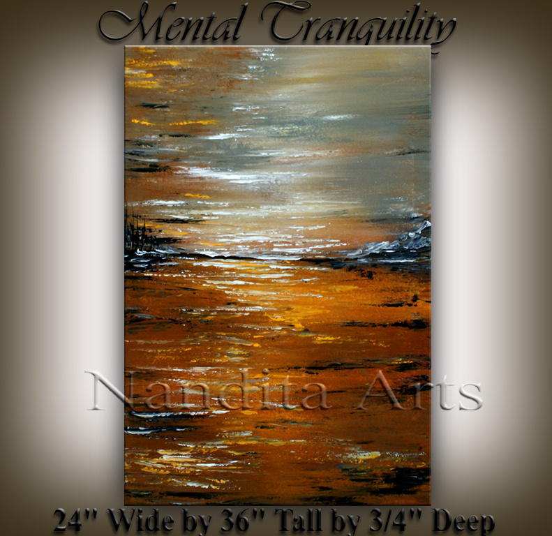 Mental Tranquility Abstract contemporary art by Nandita Albright