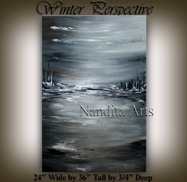 Winter Perspective landscape artwork wall art by Nandita Albright