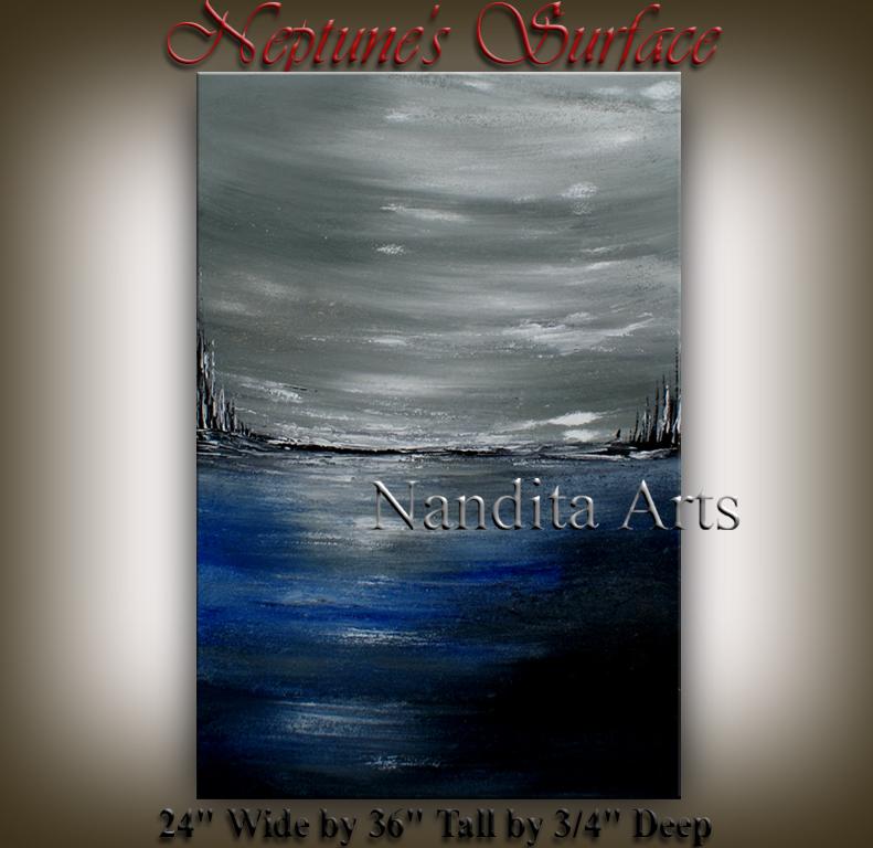 Neptune's Surface original art by Nandita Albright