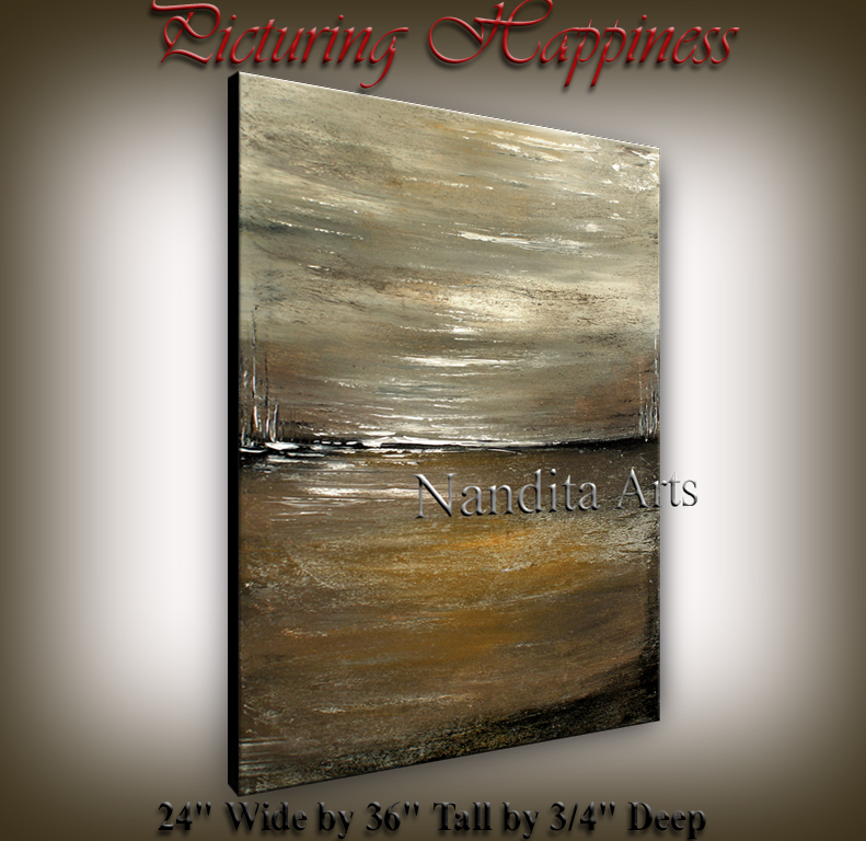 Picturing Happiness Abstract original paintings by Nandita Albright