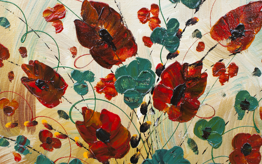 Floral Passion floral art by Nandita Albright