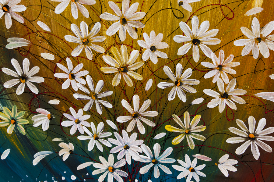 The Nature Within Daisy floral art by Nandita Albright
