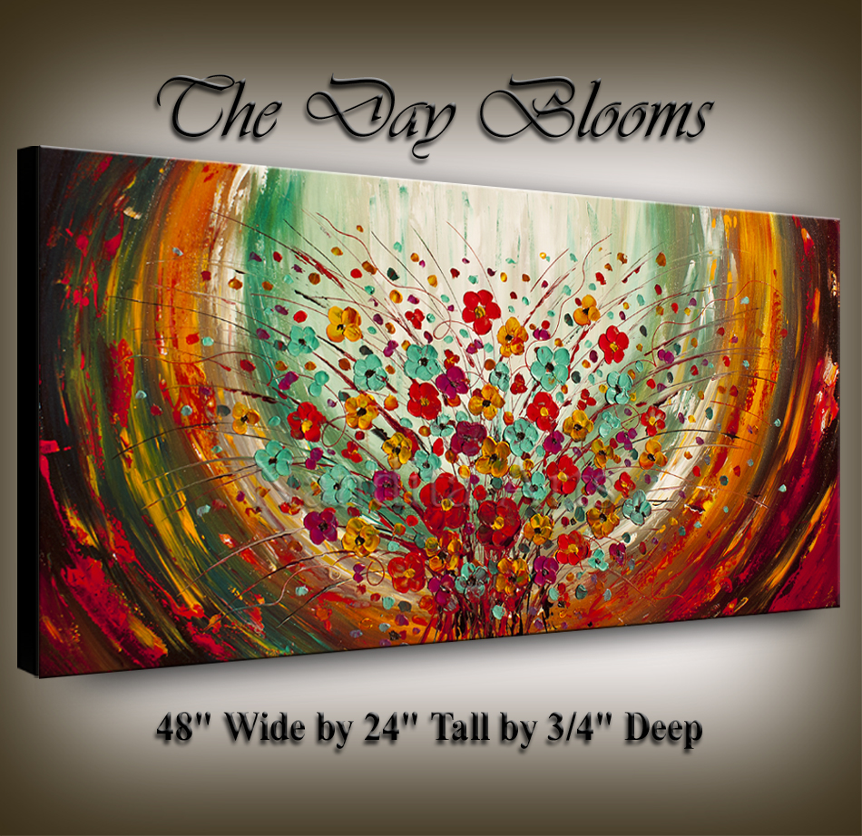 Floral Art The Day Blooms art gallery wall art by Nandita Albright