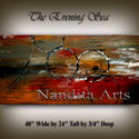 The Evening Sea | Landscape Art | PaIntings | Wall Art by Nandita Albright