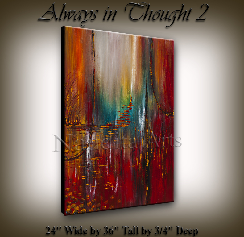 Always in Thought 2, Modern artwork by Nandita Albright