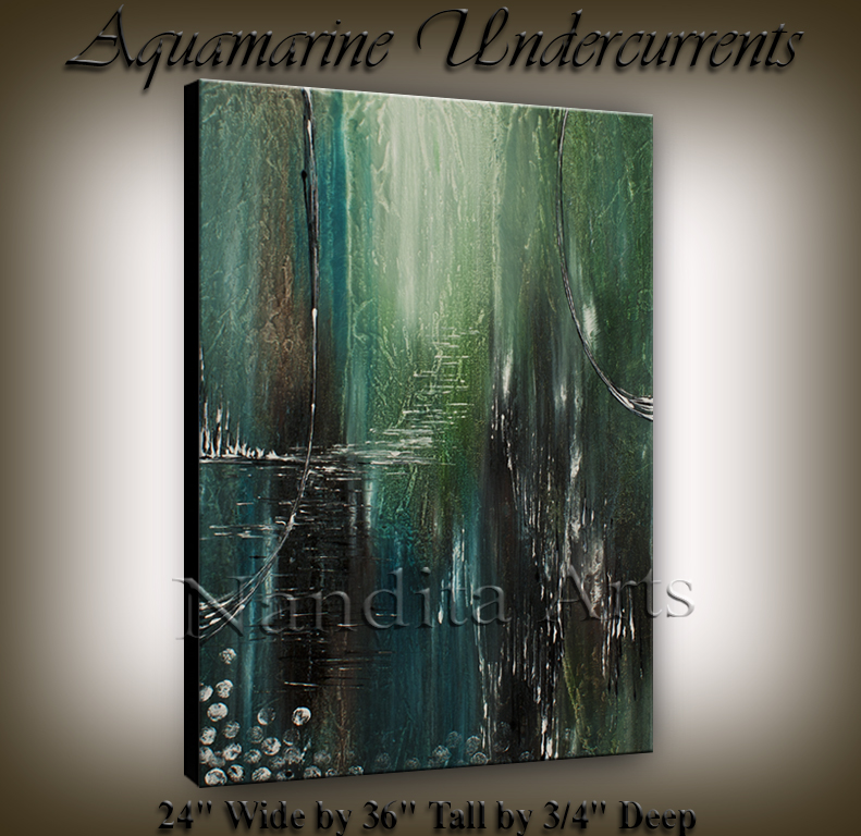 Aquamarine Undercurrents, modern, art, gallery by Nandita Albright