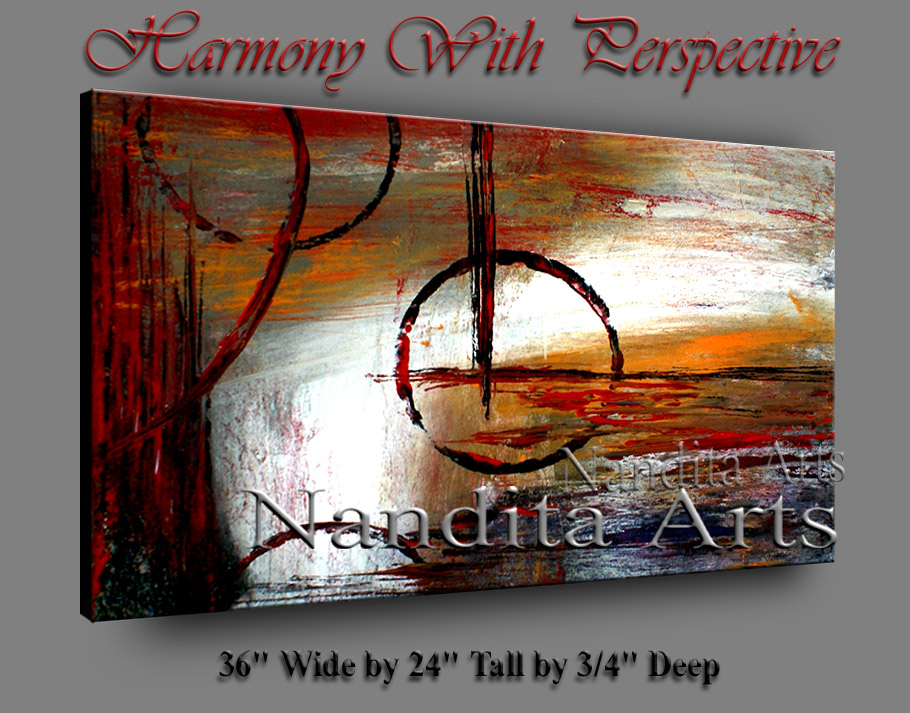 Harmony with Perspective | Abstract Modern Art | Arts by nandita albright
