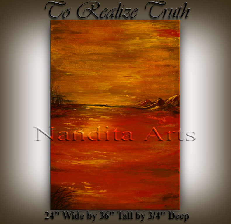 To Realize Truth Art Painting by Nandita Albright
