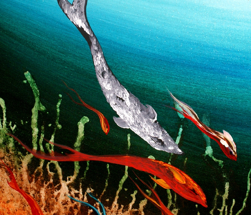 Restless Undersea Life Seascape beautiful art by Nandita Albright