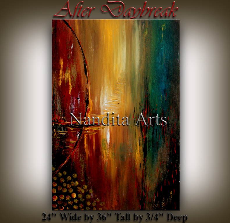 After Daybreak landscape original art by Nandita Albright