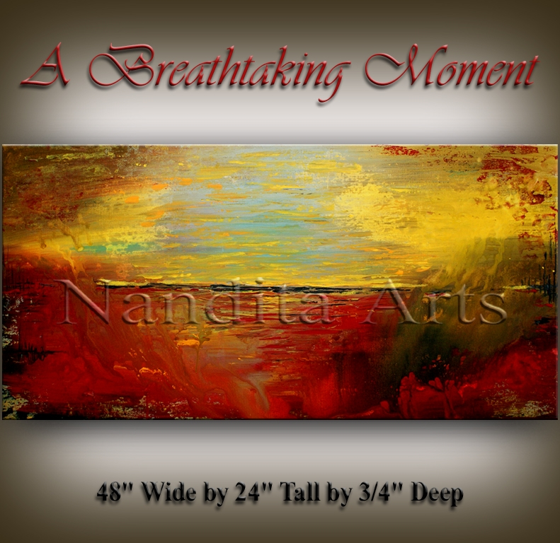 A Breathtaking Moment, abstract modern art original artwork by Nandita Albright