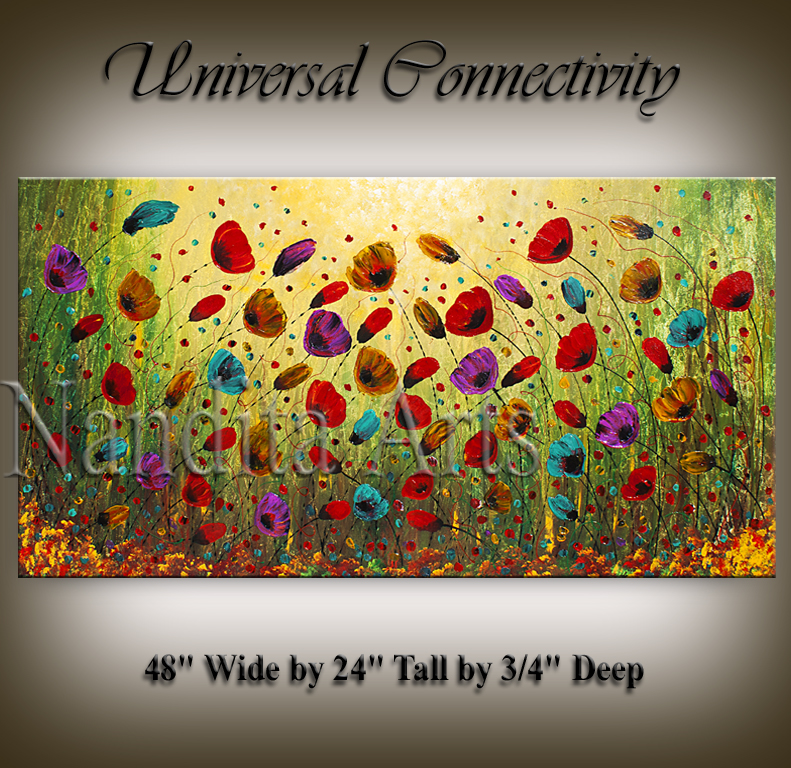 Universal Connectivity Poppy Floral art by Nandita Albright