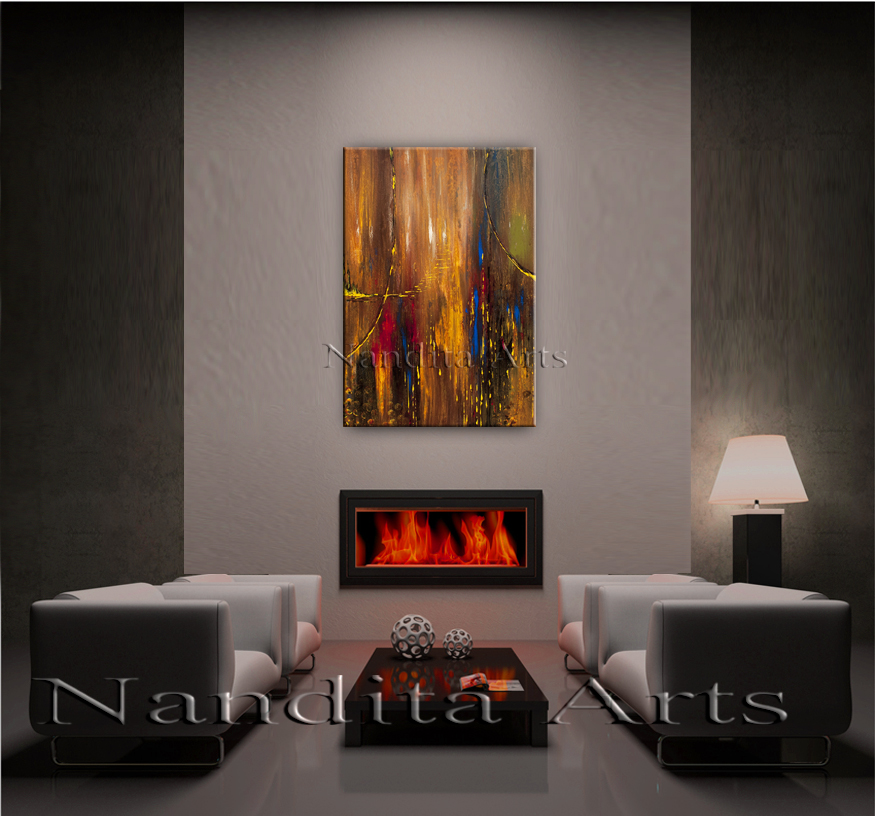 Memorable Reflections modern artwork by nandita albright