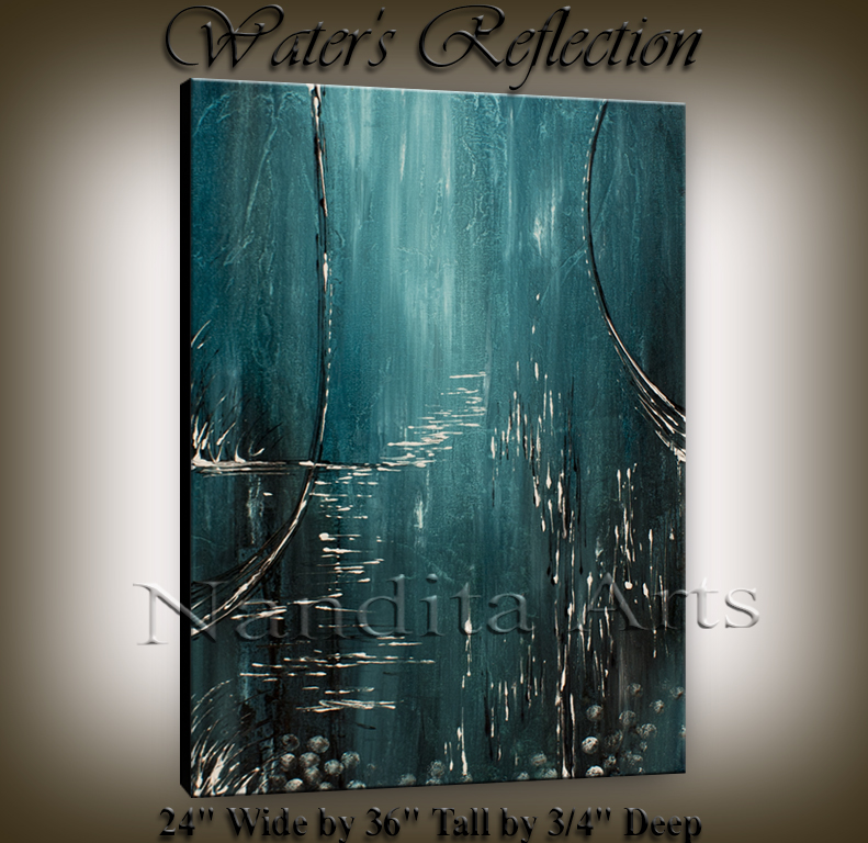 Water's Reflection Modern artwork | wall art by Nandita Albright