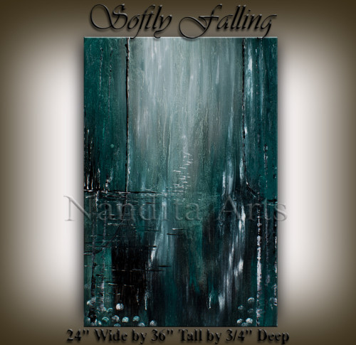 Abstract Art Softly Falling Original wall art by Nandita Albright